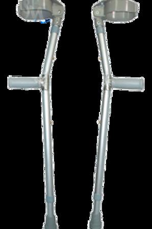 Muletas tipo canadiense en aluminio adonizado