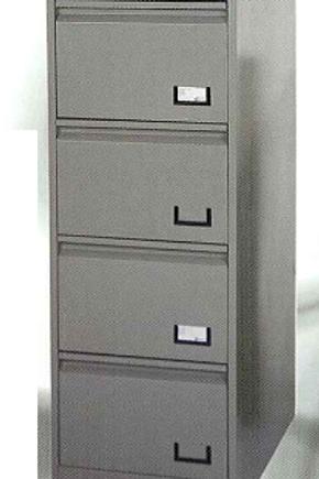 Archiveros de metal o madera de 4 gavetas MOAGV04