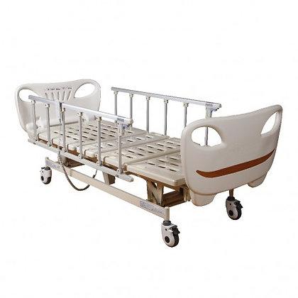 Cama Manual barandales y ruedas ajuste de espalda y piernas R217010
