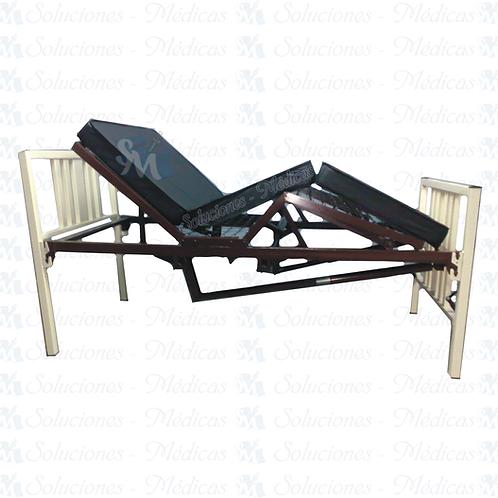 Cama de hospital manual 3 posiciones incluye colchón seccionado MM-CMA1