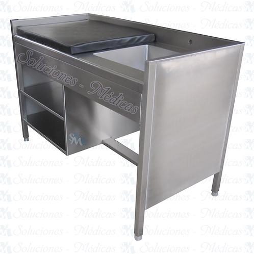 Baño artesa totalmente en acero inox modelo AIBART01