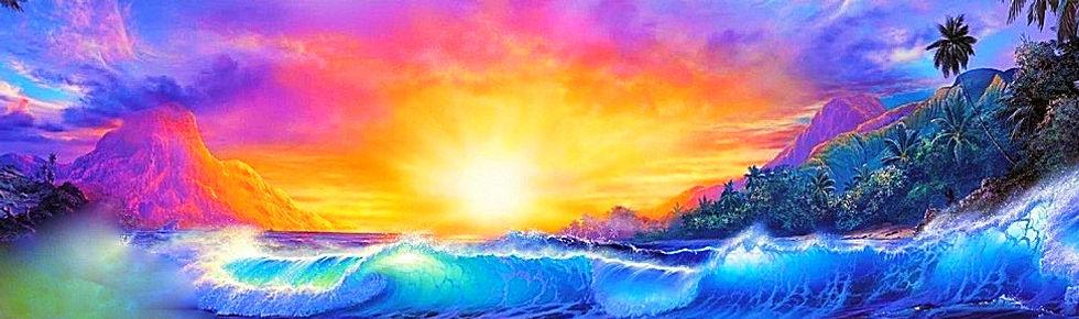 artistic abstractionof Hawaii nei
