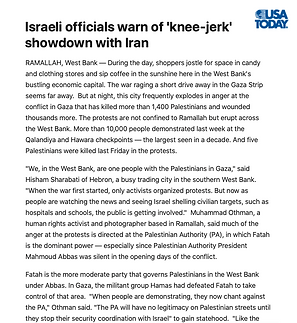 Israeli officials warn of 'knee-jerk' sh