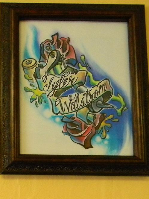 """Tyler Walstrom"" Print"