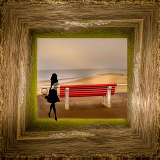 le banc rouge