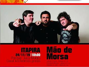 24/11, domingo, a partir das 10h, tem Projeto Coreto com Mão de Morsa.
