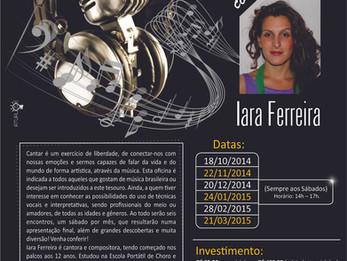 Proposta de oficina de canto popular na Casa das Artes de Itapira.