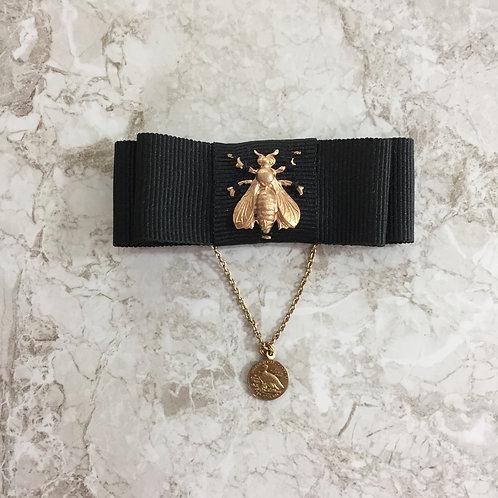 Broche noeud papillon, noire
