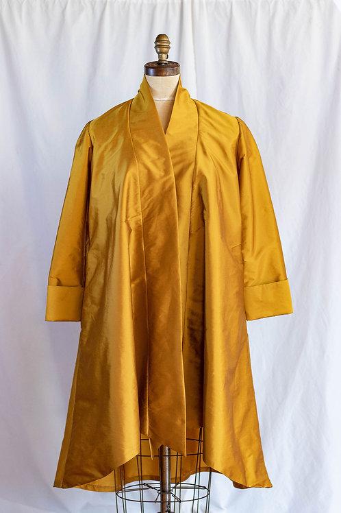 Mustard PolyTaffeta Swing Jacket