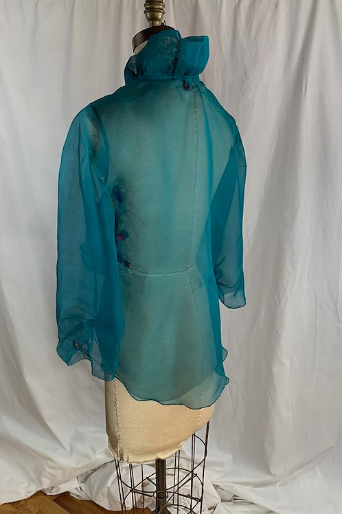 Silk Organza Teal Jacket