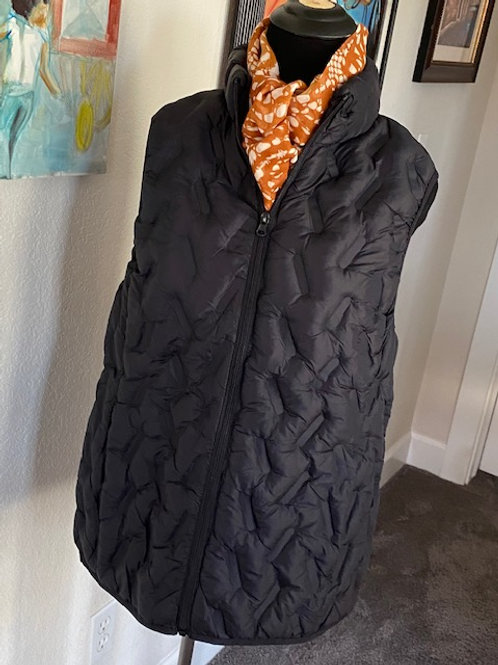 Black Quilted Puffy Vest