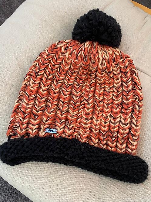 Knitted Pom-Pom Beanie