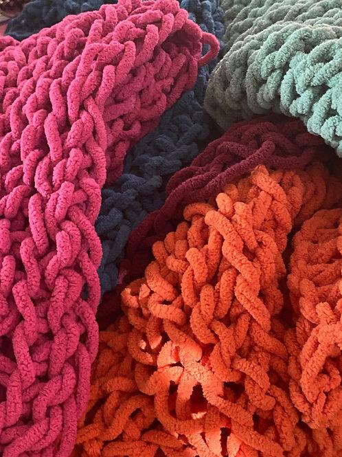 Handmade Chenille Lap Blanket