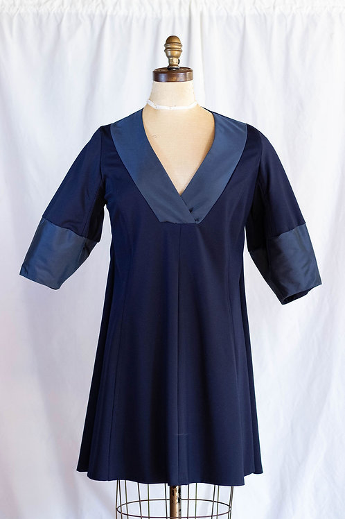 Navy Sheath Ponte Dress