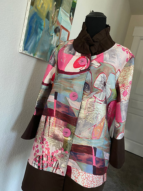 Butterfly Collar Patchwork Jacket