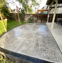 stamped concrete patio extension