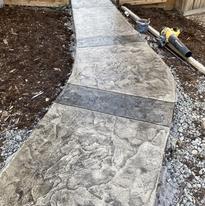 stamped concrete sidewalk