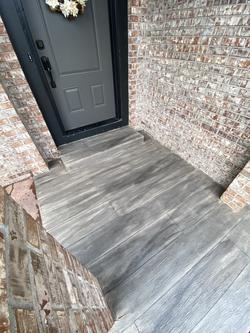 front porch concrete overlay