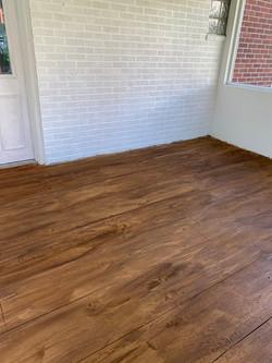 concrete overlay wood plank