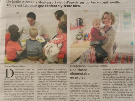 L'article sur notre Jardin d'enfants Montessori