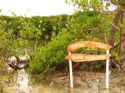 L'Ilet - Tidal pool sign