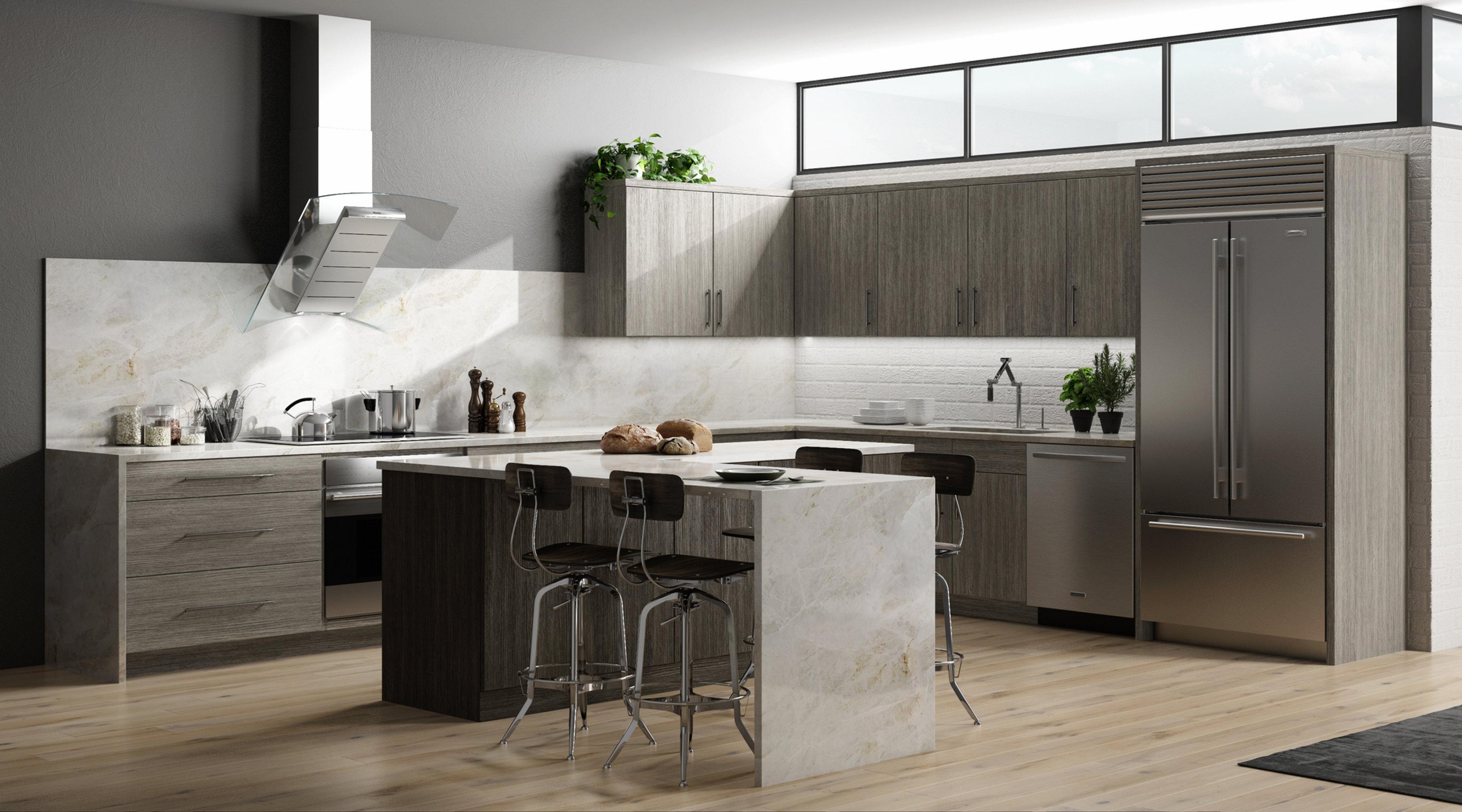Matrix Silver Affordable Kitchen Cabinets