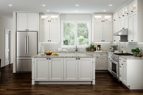 CNC Elegant White Kitchen Cabinets Kitchen and Bath Express