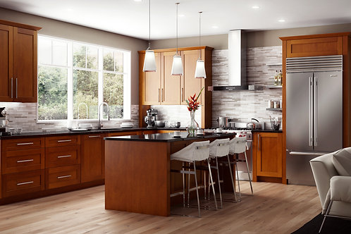 CNC Elegant Nutmeg Kitchen Cabinets Kitchen and Bath Express