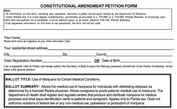 Florida Medical Marijuana Constitutional