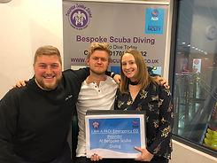 Bespoke Scuba Diving - Dagenham - Essex - PADI Emergency Oxygen Provider