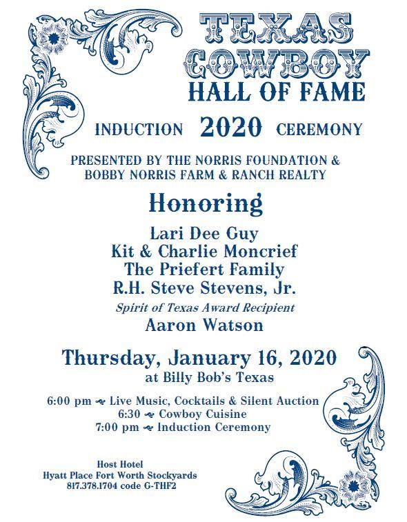 2020 TCHOF Invitation