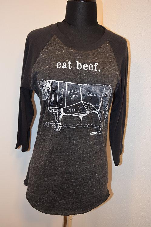 Eat Beef Baseball Tee