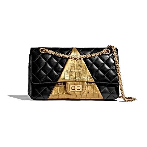 2-55-handbag-black-gold-lambskin-crocodi