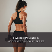 8 WEEK CHALLENGE 5:  MODERATE FITNESS This plan is designed for people who have a moderate level of strength and fitness. It caters for individuals who are comfortable in the gym and who are comfortable with most exercises. This program is gym based and gym access is mandatory.  This package includes: 2 Phase exercise program which consists of 6 days of exercise and 1 rest day. Diet plan  8 Week smartphone app subscription Videos attached to all exercises Workout descriptions  Workout tracking  Body stat updates  R599,00 for the complete 8 week challenge, without a diet plan.   R699,00 for the complete 8 week challenge, with a diet plan.  It is advised that you complete the program with the correct nutritional protocols, however if you have previously done a challenge and wish to redo it, you may purchase the option without a diet. If you feel that you are competent with dieting you may also choose the option without a diet.