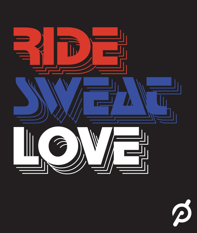 Peloton | Ride Sweat Love Retro Logo