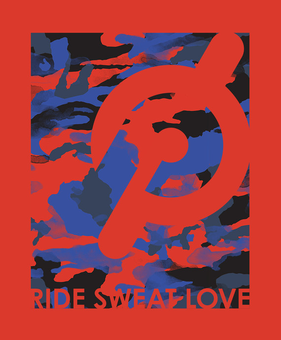 Peloton | Ride Sweat Love Camo Knockout Logo