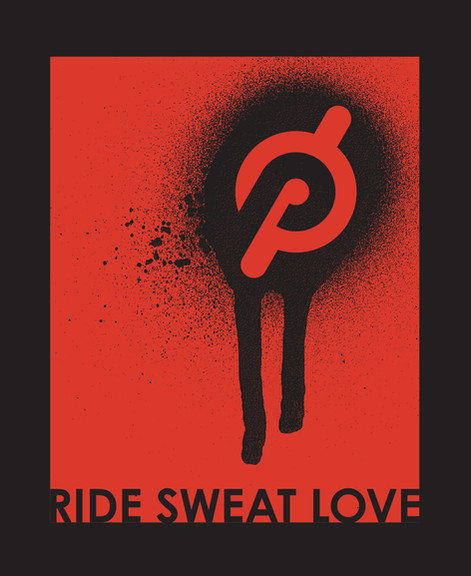 Peloton | Ride Sweat Love Grafitti Logo