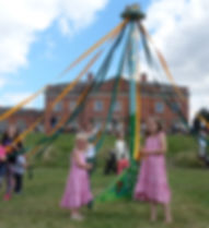 Maypole Dance Have a go Kelmarsh Hall Me