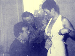 Jacqueline Pearce costume fitting