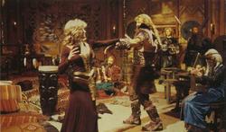 Jenna dances with Gola