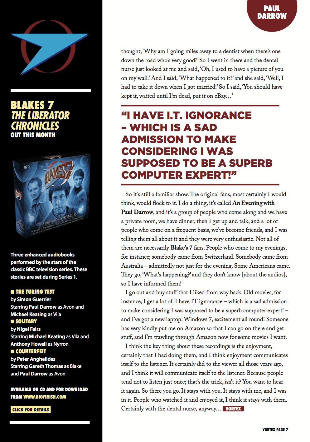 Paul Darrow Interview Page 4
