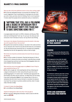 Paul Darrow Interview: Page 3