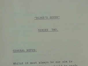 BLAKE'S SEVEN - SERIES TWO GENERAL NOTES