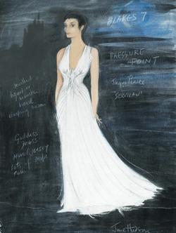 June Hudson's design drawing