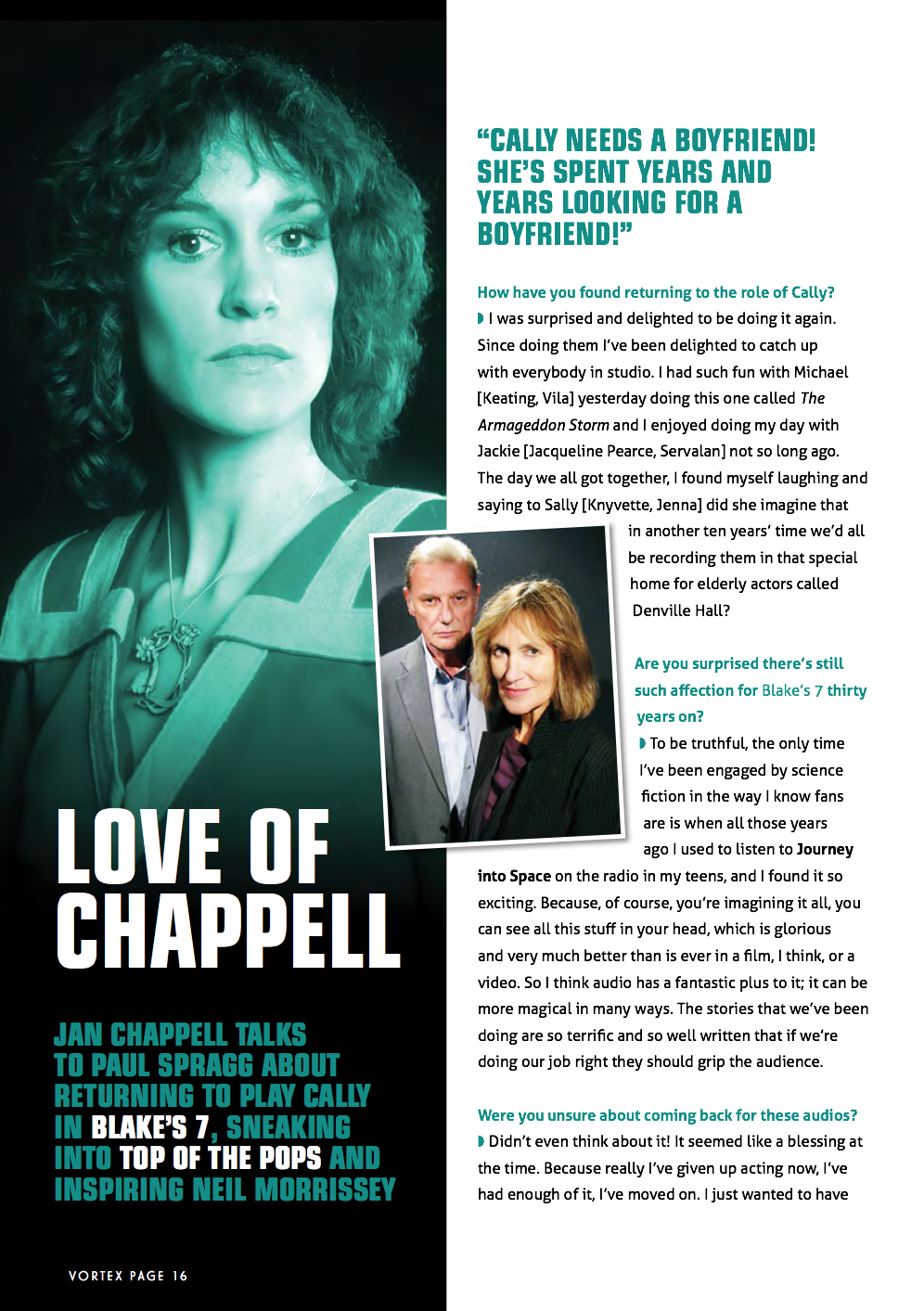 Jan Chappell interview Page 1