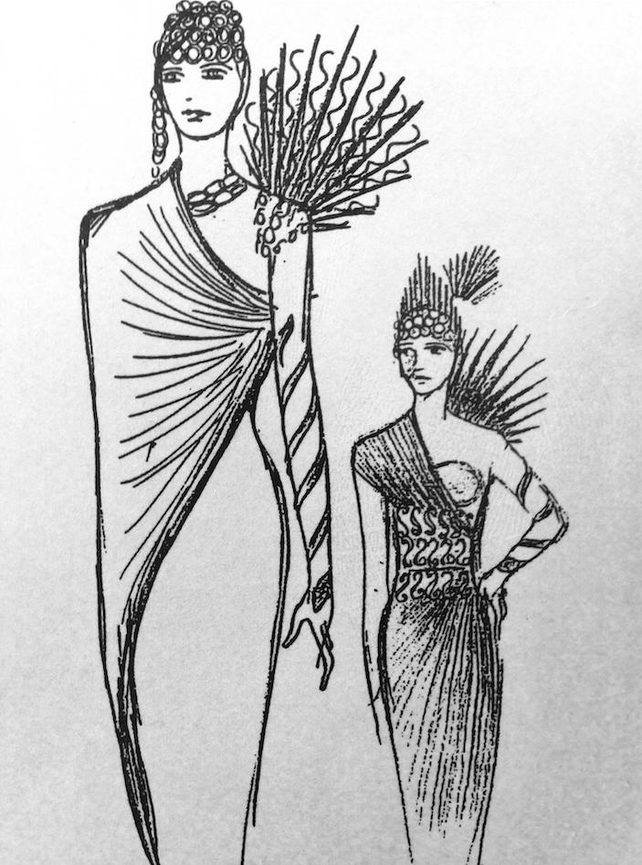 June Hudson's design sketch