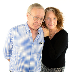 John Leeson and Louise Jameson