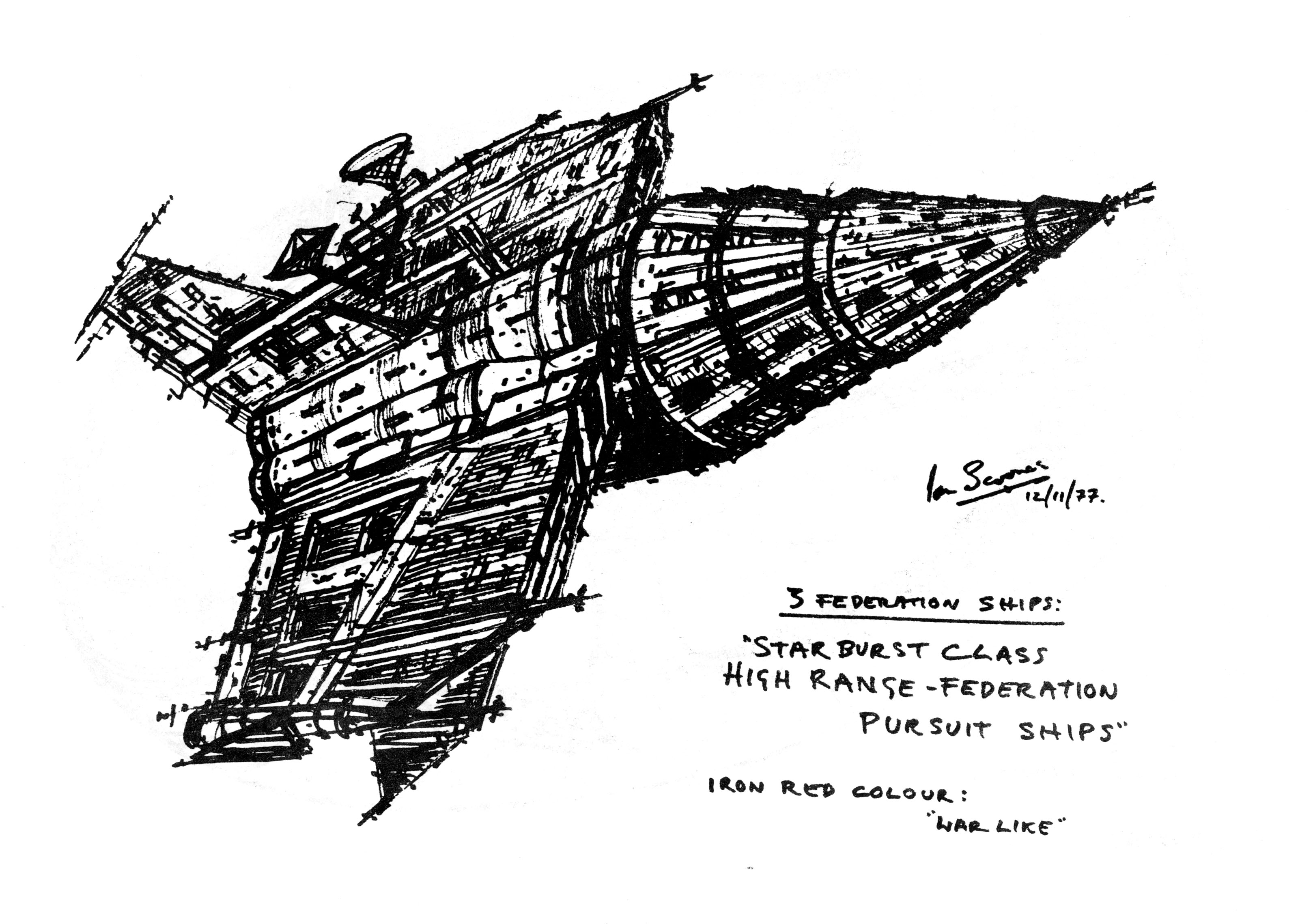 Pursuit Ship design sketch