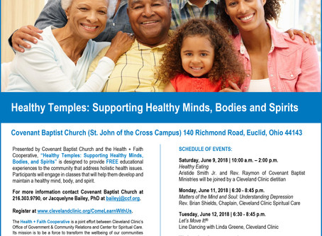 """Covenant Baptist Church & Cleveland Clinic Present: """"Healthy Temples: Supporting Healthy Mi"""