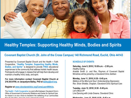 "Covenant Baptist Church & Cleveland Clinic Present: ""Healthy Temples: Supporting Healthy Mi"